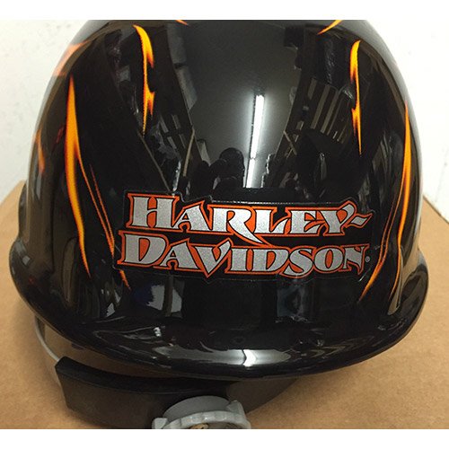 protection pour le visage et la t te casque de s curit harley davidson flamme. Black Bedroom Furniture Sets. Home Design Ideas
