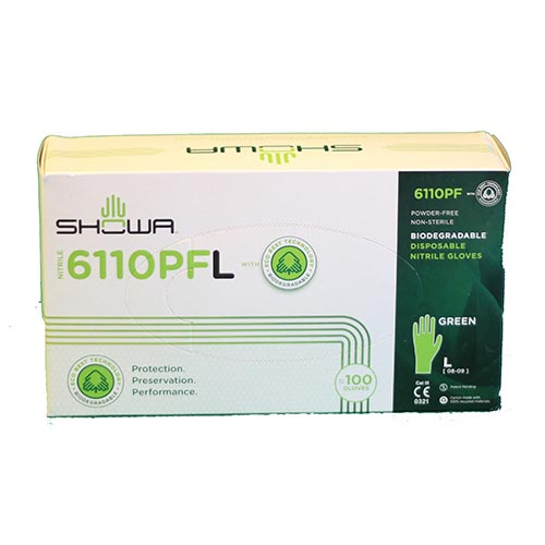 Gant en nitrile 100% Biodégradable Showa 6110pf
