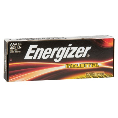 Batteries Energizer Industrial AAA , Paquet de 24