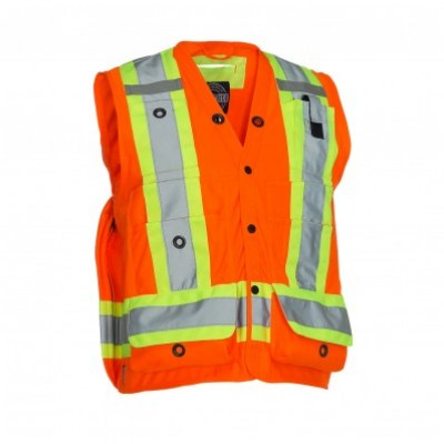 veste arpentage orange forcefield , 022-TVSURV168