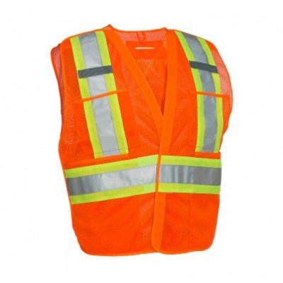 veste de circulation a maille forcefield haute visibilité orange , 022-tv5pkta